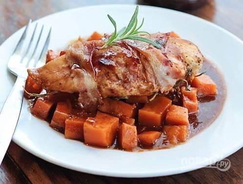 Пряная курица со сладким картофелем