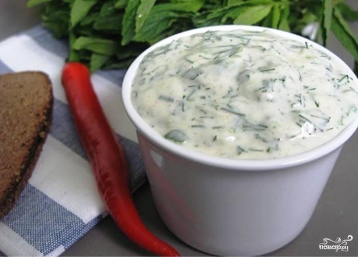 Соус из йогурта к курице и мясу