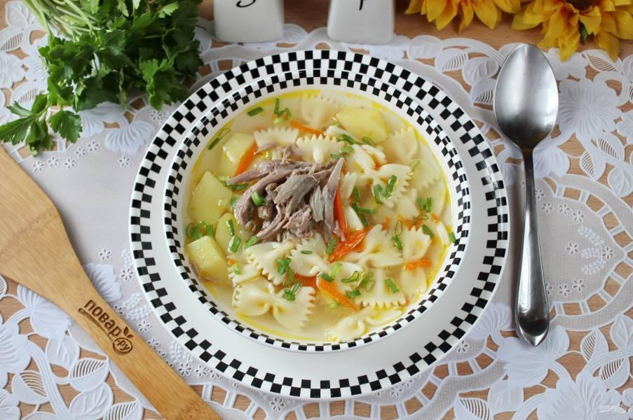 Суп из шеи индейки