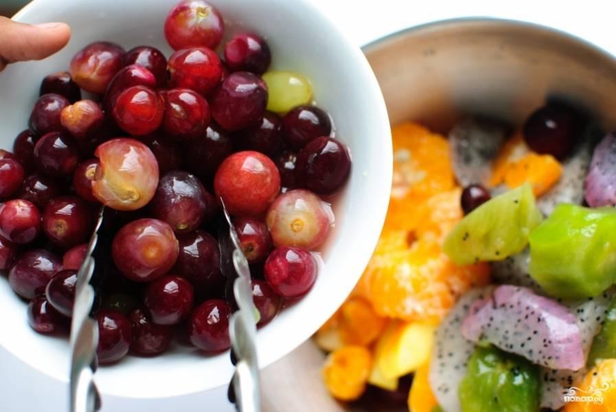Теперь виноград.