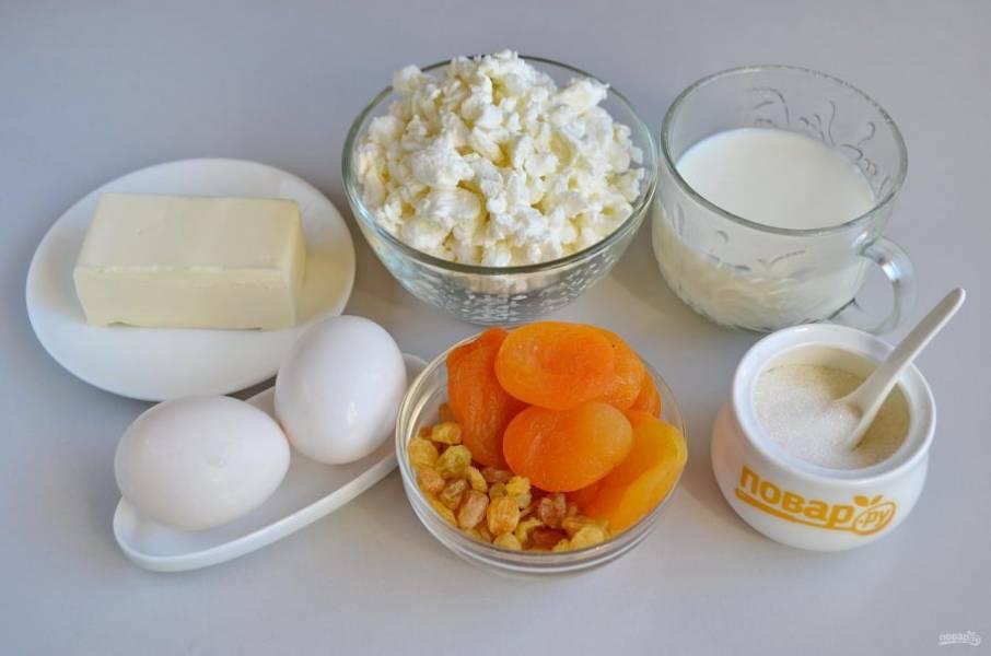 1. Подготовьте продукты, любые цукаты. Приступим! Если сливочное масло холодное, поставьте его минут на 10 на батарею, пусть будет мягким.