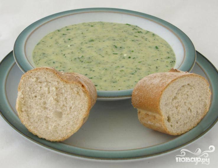 Суп с сыром и цукини