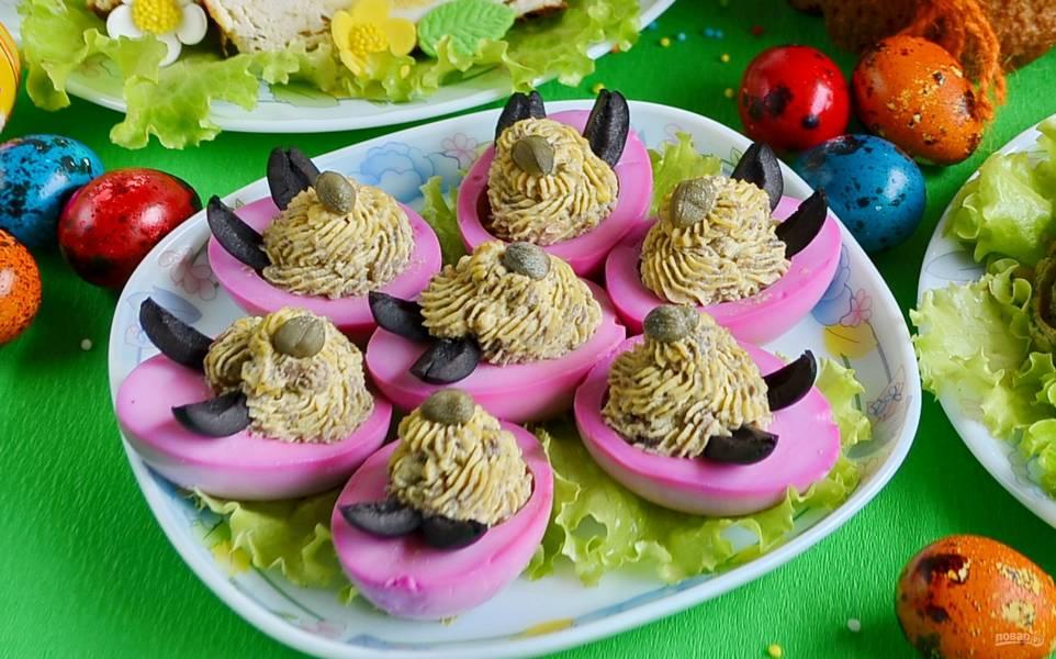 Яйца, фаршированные на праздник