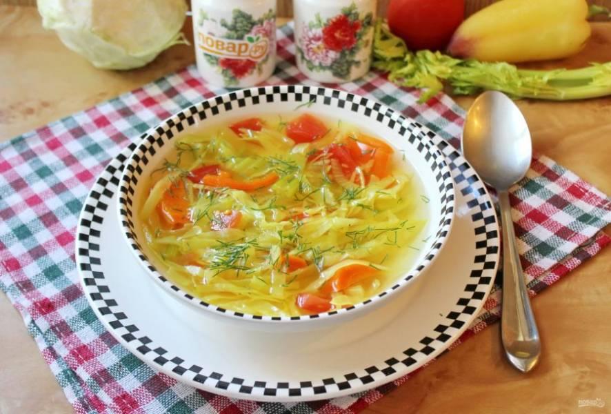 8. Боннский суп готов. Можно подавать к столу.