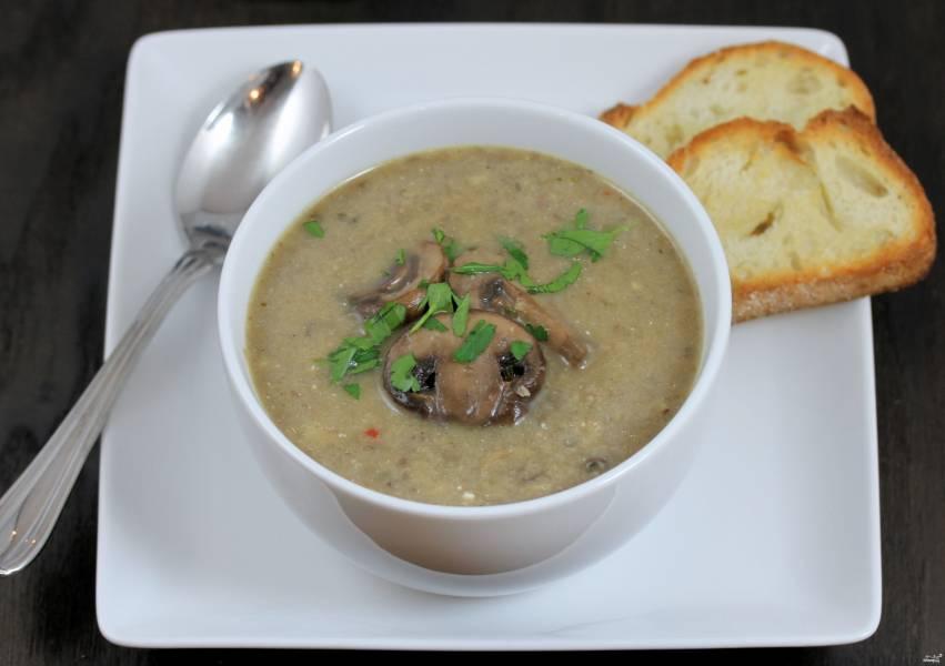 Диетический грибной крем-суп