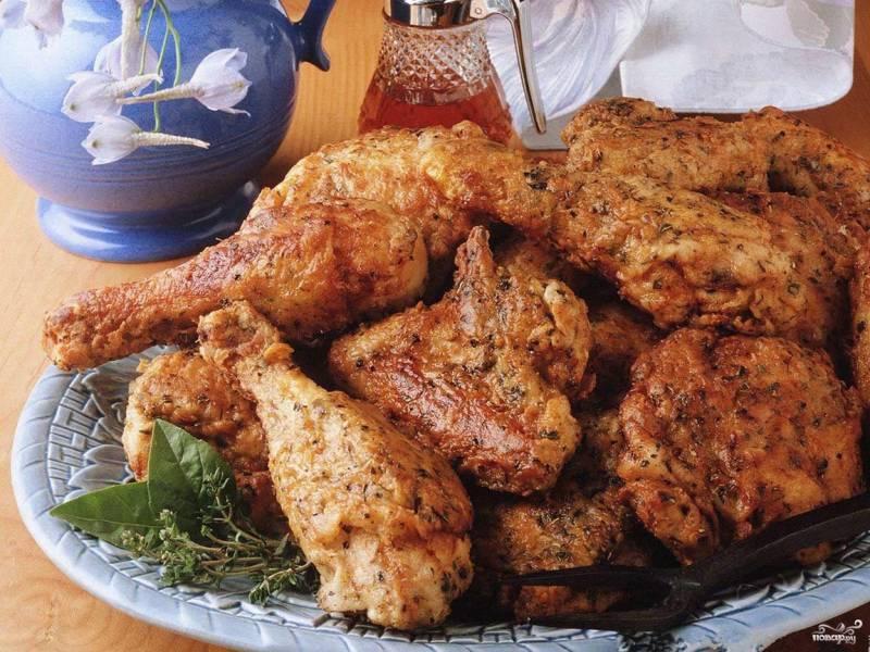 Курица в сухарях в духовке