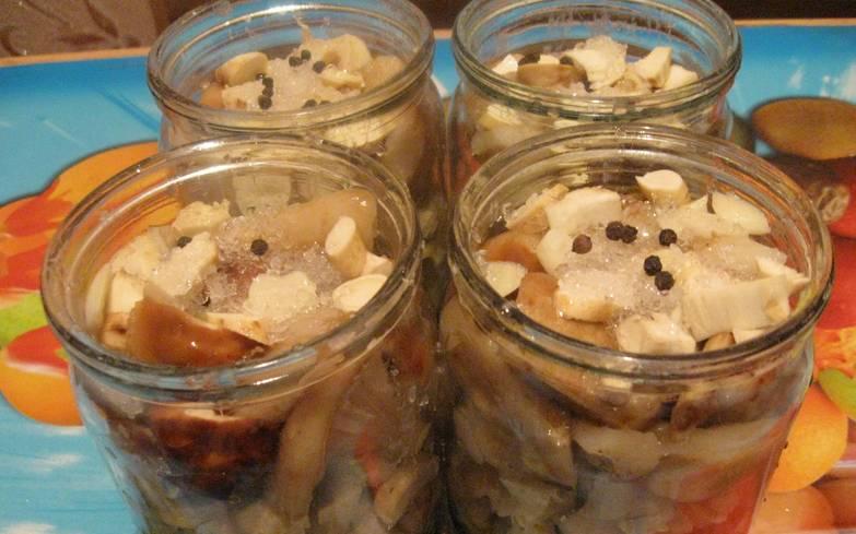 Далее грибы можно хранить в стерилизованных банках в прохладном месте, не закручивая их крышками. Приятного аппетита!