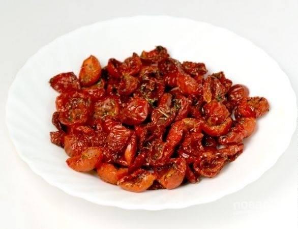 3. Все, ароматные вяленые помидорки готовы.
