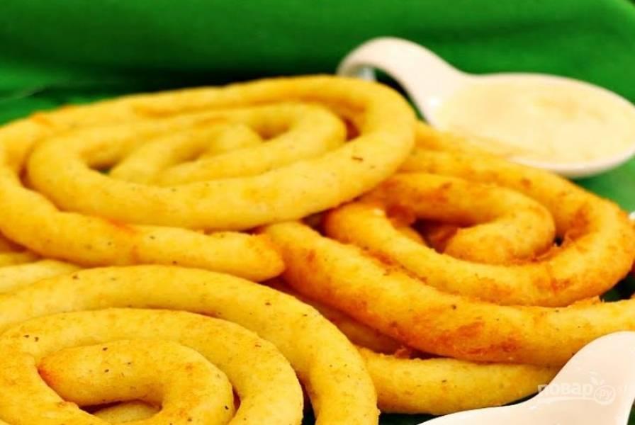 Спиральки из картофельного пюре