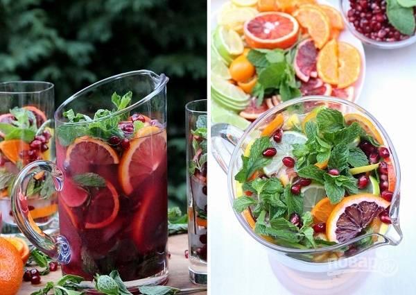 Гранатово-цитрусовый коктейль