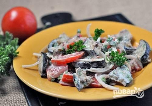 Русский салат из баклажанов