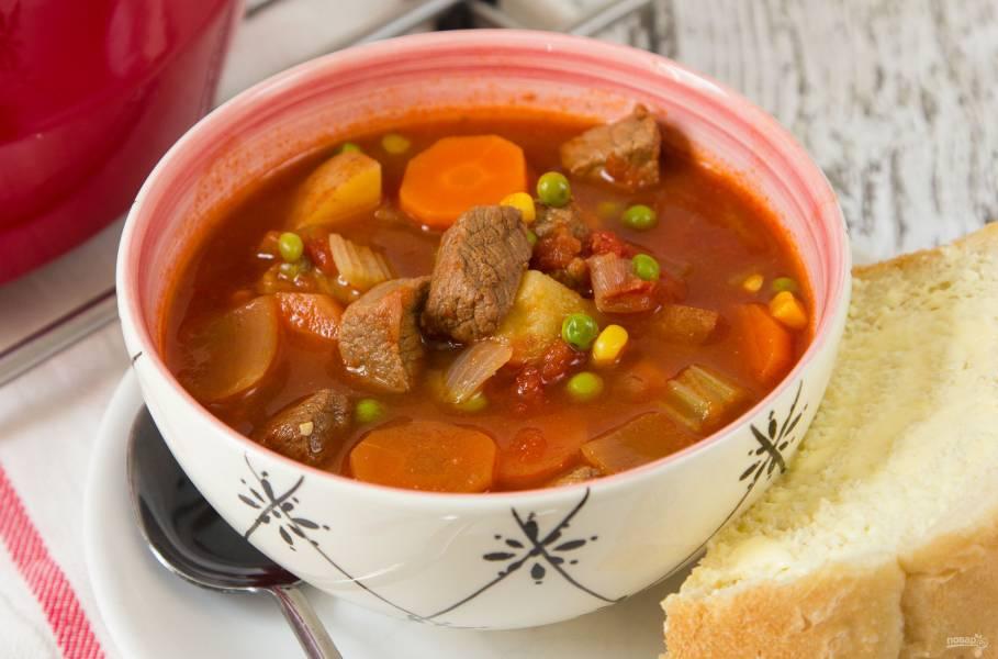 Суп с мясом