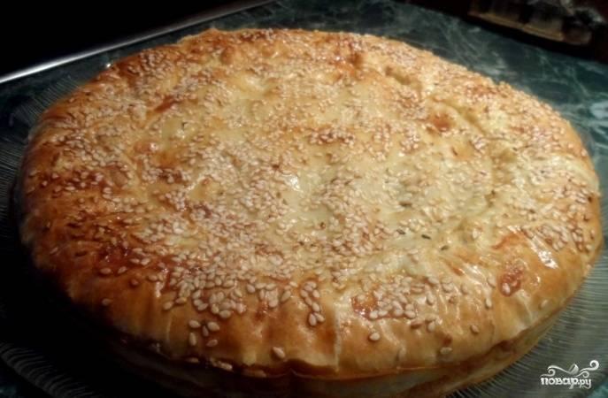 Пирог с горбушей консервированной