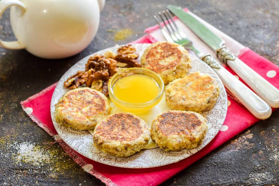 Сырники с грецкими орехами