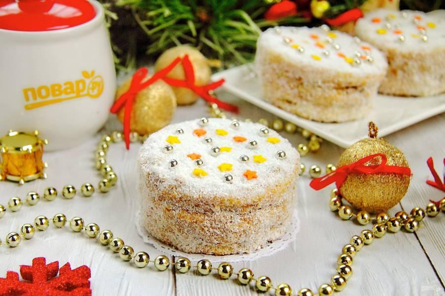 """Пирожные """"Медовые сласти"""" на Новый год 2022"""