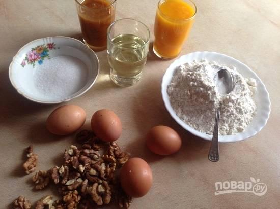 Отмеряем необходимое количество продуктов. Тыкву для приготовления пюре лучше запечь а потом измельчить блендером.