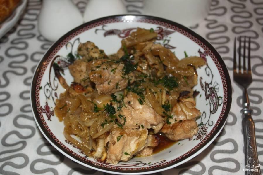 Куриное филе кусочками в духовке