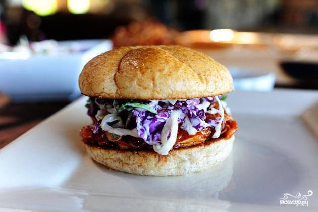 Куриный сэндвич барбекю