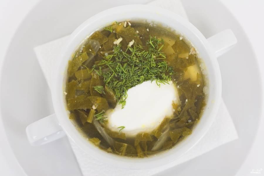 Суп из консервированного щавеля с тушенкой