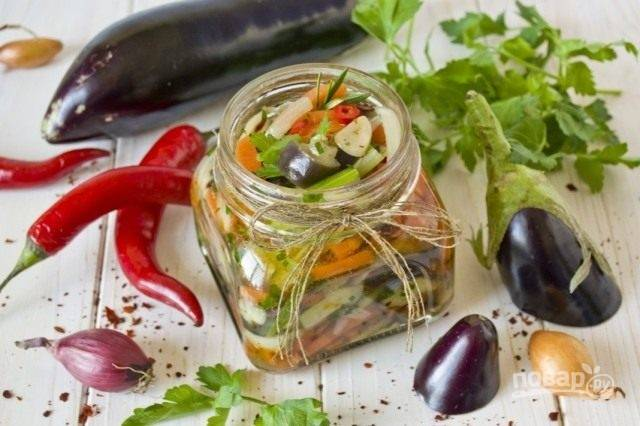 Салат из синеньких на зиму