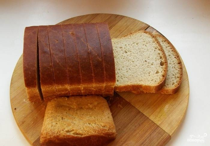 Белый хлеб на закваске в духовке