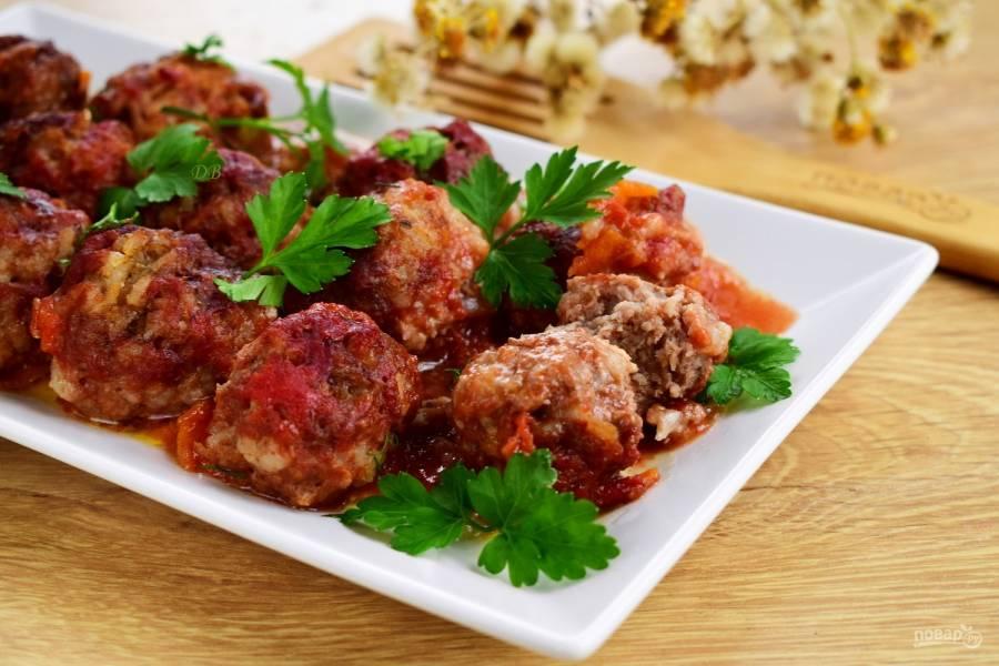 """Мясные тефтели """"Ностальгия"""" с рисом в томатном соусе"""