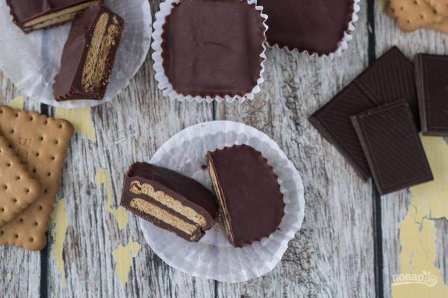 5. Оставьте конфеты застывать в холодильнике на 2 часа, а потом наслаждайтесь результатом.