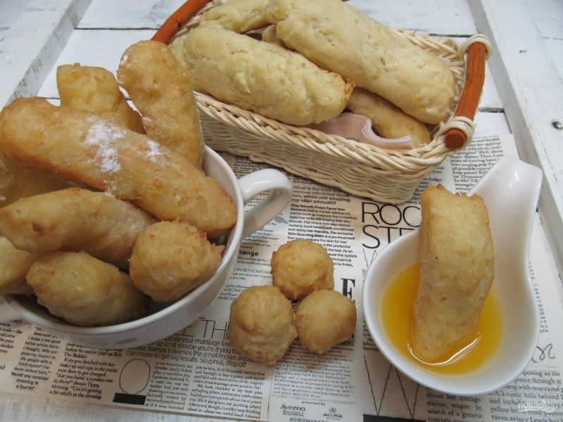Рисовые палочки с апельсиново-медовым соусом