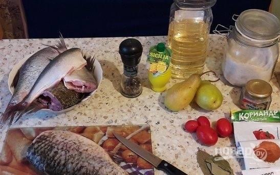 1. Весь набор ингредиентов для нашего блюда.