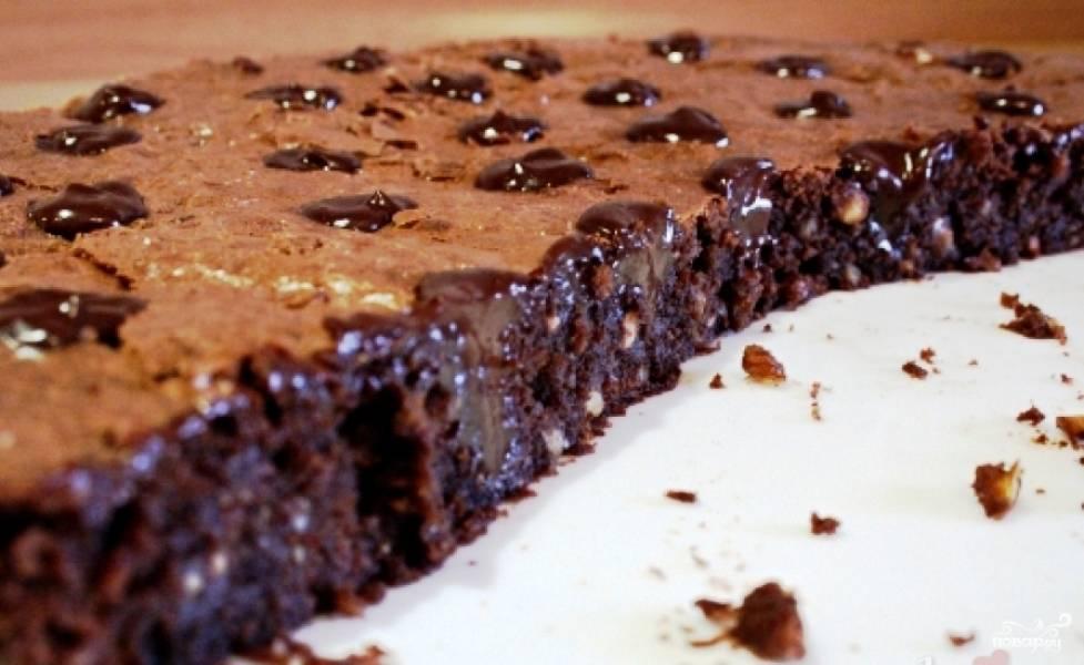 Торт брауни готов. Приятного аппетита!