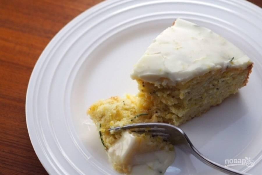 Лимонный кекс с розмарином