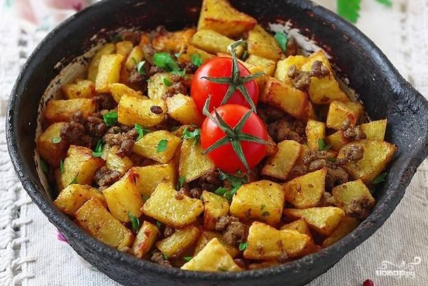 Картофель с фаршем