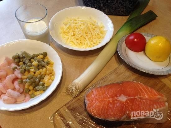 Основные ингредиенты для нашего рагу. Рыбу можно взять любую, главное, чтобы из нее можно было легко убрать кости.