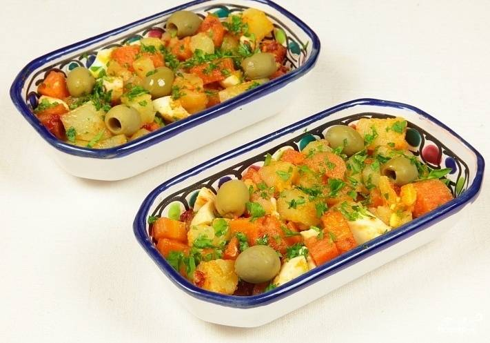 Арабский гарнир из овощей