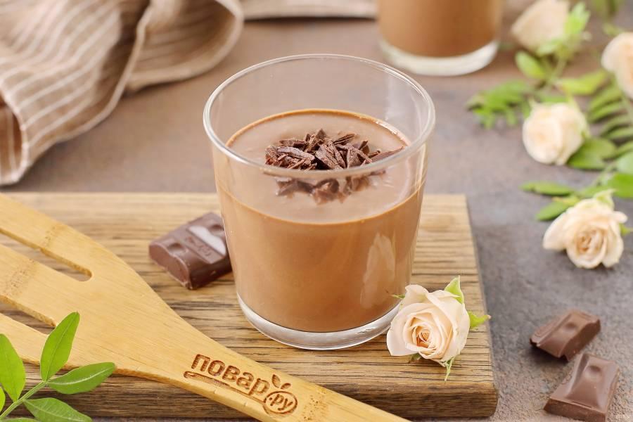 Шоколадно-банановый мусс