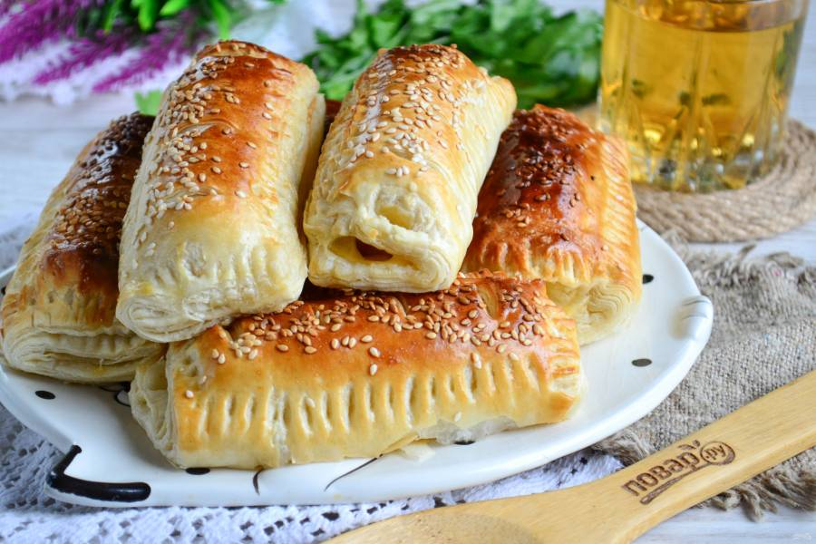 Сосиски с сыром в тесте