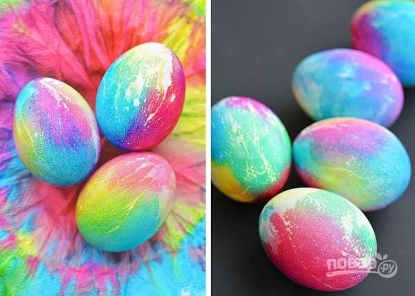 Радужные яйца на Пасху