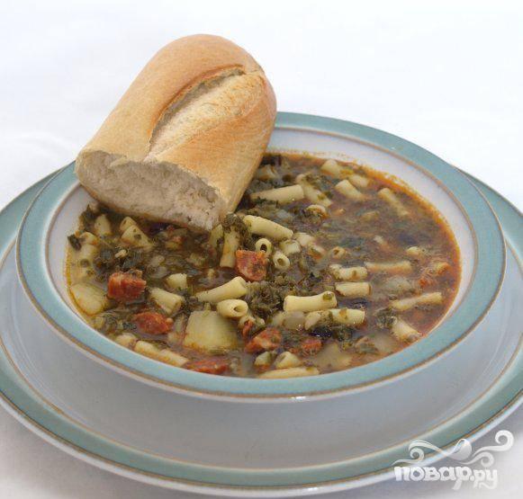 5.Подать на стол с хрустящим хлебом и маслом и насладиться ароматным португальским супом.