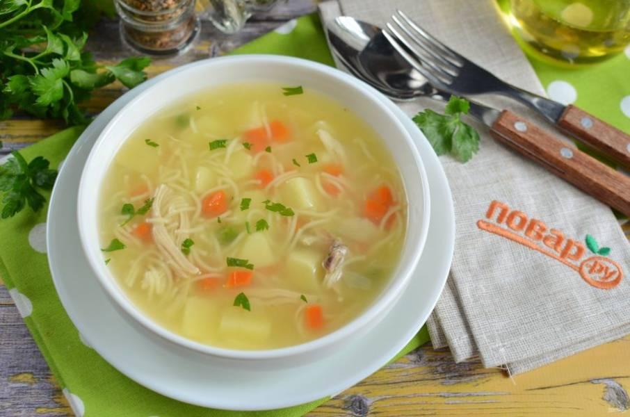 6. Подавайте суп горячим!