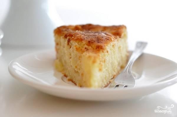 Творожно-манный пирог