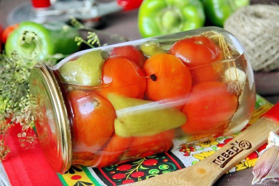 Вкусные, сладкие помидоры по-царски на зиму готовы. Удачных заготовок!