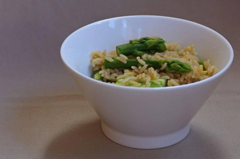 Спаржа с рисом