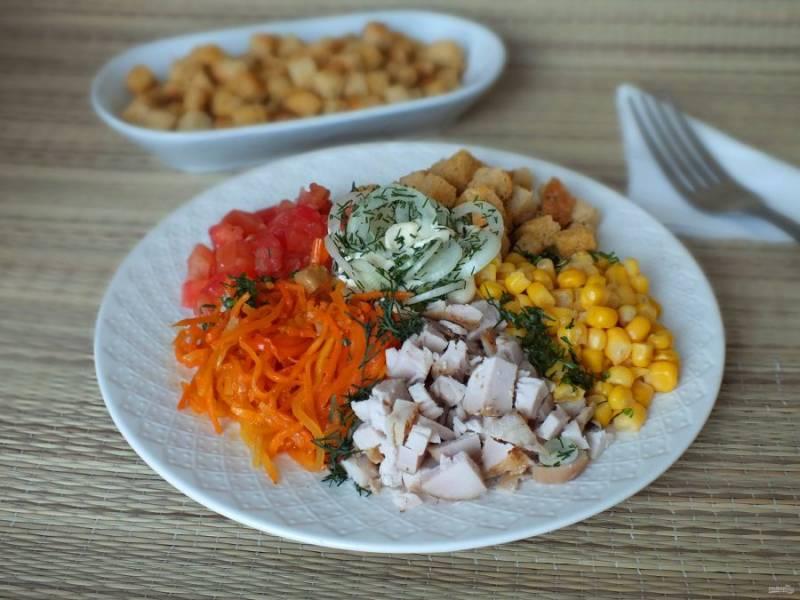 Салат подают сразу же после приготовления. Приятного аппетита!
