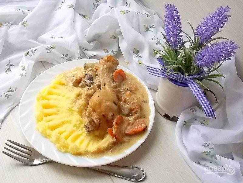 Куриные голени по старинному французскому рецепту
