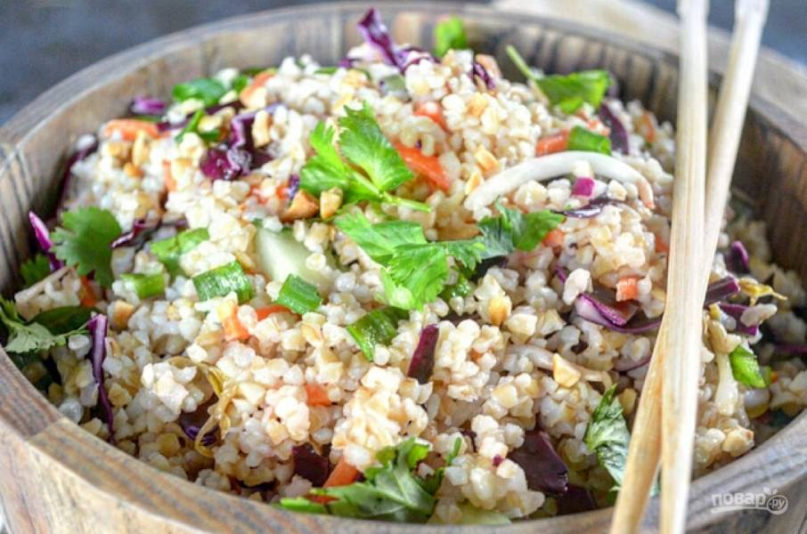 Тайский салат из булгура