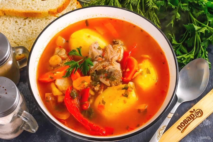 Армянский суп из баранины