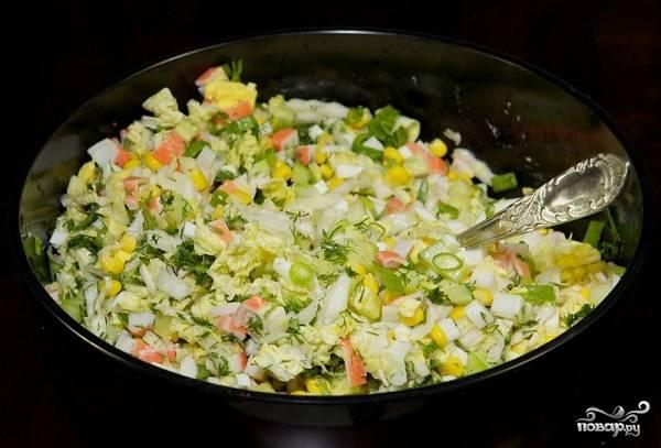 9. Аккуратно перемешайте все ингредиенты, при необходимости добавьте щепотку соли.