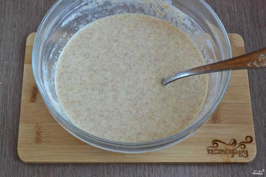 Тесто для блинов по Дюкану готово.
