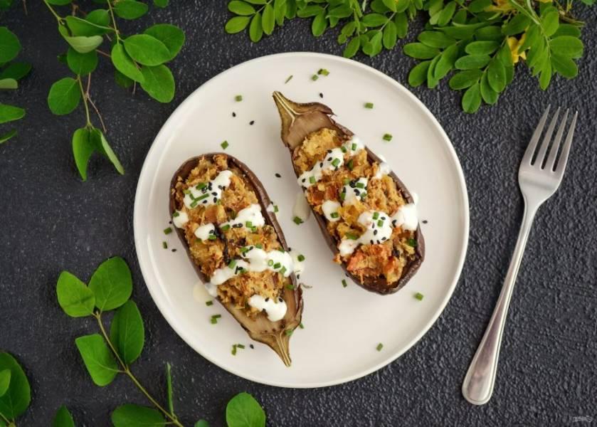 Чечевица с баклажанами готова, приятного аппетита!