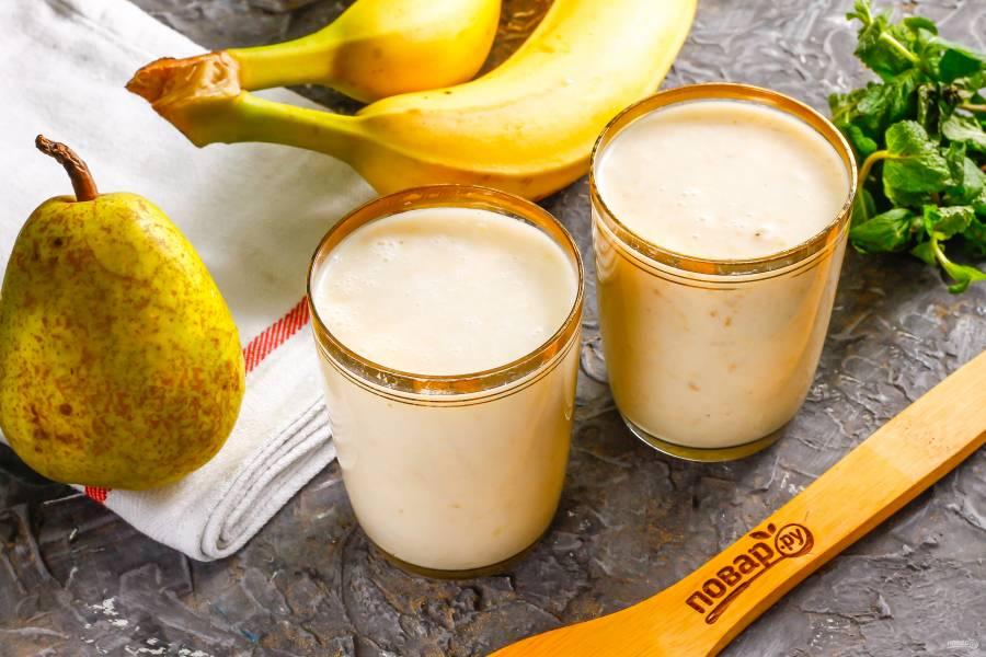 Смузи из банана и груши